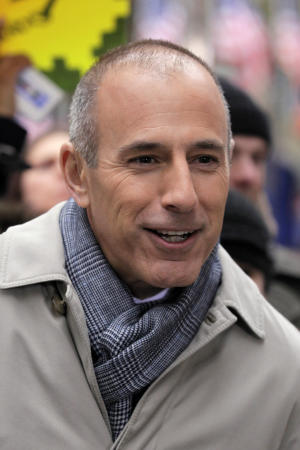 """FILE - In this Nov. 7, 2012 file photo, Matt Lauer, co-host of the NBC """"Today"""" television show, appears during a segment of the show in New York's Rockefeller Center. The Daily Beast reported Monday, March 11, 2013 that Lauer was ready to take the fall last year for troubles on the morning show, but Steve Burke, the chief executive of NBC Universal, dismissed the idea. (AP Photo/Richard Drew, File)"""