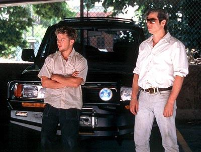 Longtime partners Parker ( Ryan Phillippe ) and Longbaugh ( Benicio Del Toro ) in Artisan's The Way Of The Gun