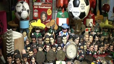 Mexican Soccer Fan Has 1,500 World Cup Items