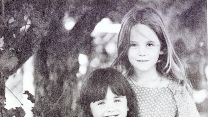 Lana Wood poses with her sister, the late actress Natalie Wood, right, when they were children. (Photo courtesy of Lana Wood/Delivered by Newsmakers)
