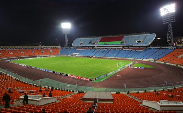 A general view of Dynamo stadium in Minsk on September 30, 2008