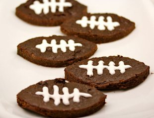 Reduced-Guilt Football Brownies