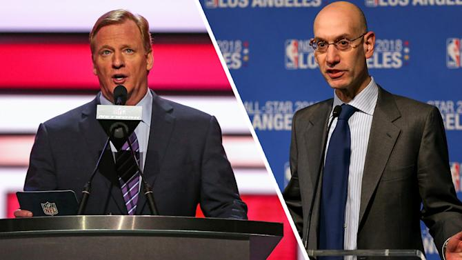 Adam Silver again makes Roger Goodell look foolish when it comes to sports betting