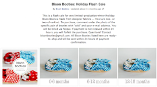7 Ideas To Boost Online Holiday Sales In 2013 With Social Media image bison booties example 600x332