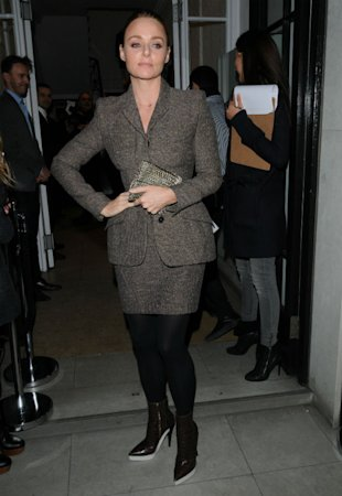 Stella McCartney Gets Her Legs Out In Miniskirt Suit For Star-Studded Christmas Lights Event
