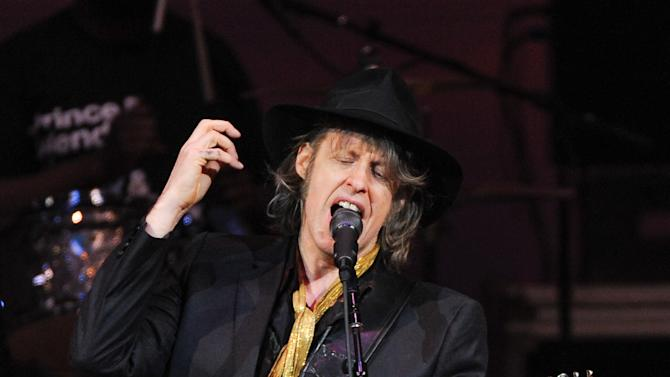 "Musician Mike Scott of The Waterboys performs at ""The Music of Prince"" tribute concert at Carnegie Hall on Thursday March 7, 2013 in New York. (Photo by Evan Agostini/Invision/AP)"