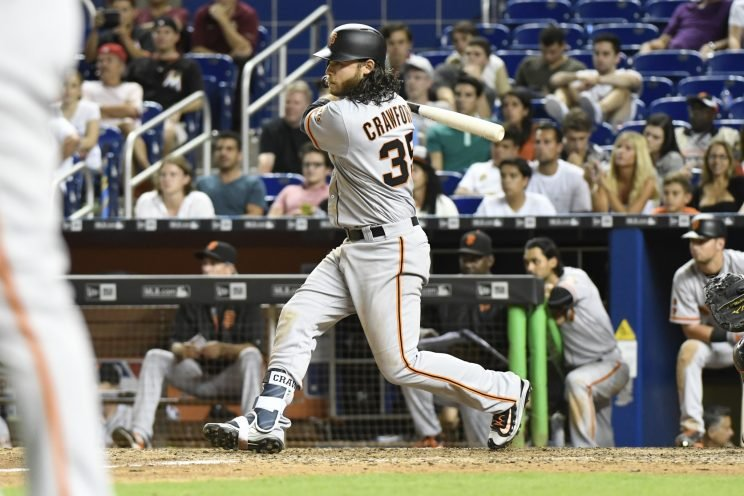 Brandon Crawford's seven-hit game was the first since 1975