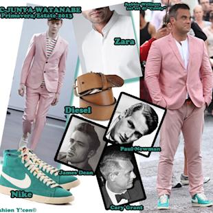 Copia il Look: in total pink come Robbie Williams sul set di Candy [FOTO]