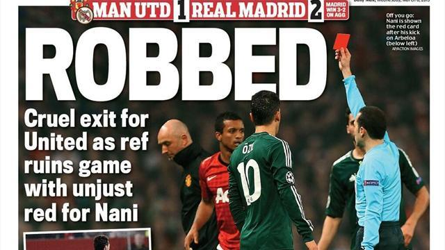 Champions League - Paper Round: United victims of 'grand larceny'