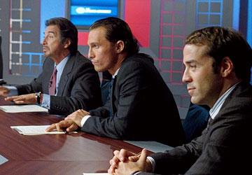 Al Pacino , Matthew McConaughey and Jeremy Piven in Universal Pictures' Two for the Money