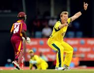 File photo shows Australia's Brett Lee (R) during a one-day international in March. Pakistan express fast bowler Shoaib Akhtar Saturday paid tribute to Lee, who has announced his retirement from international cricket, saying the Australian was a fierce competitor
