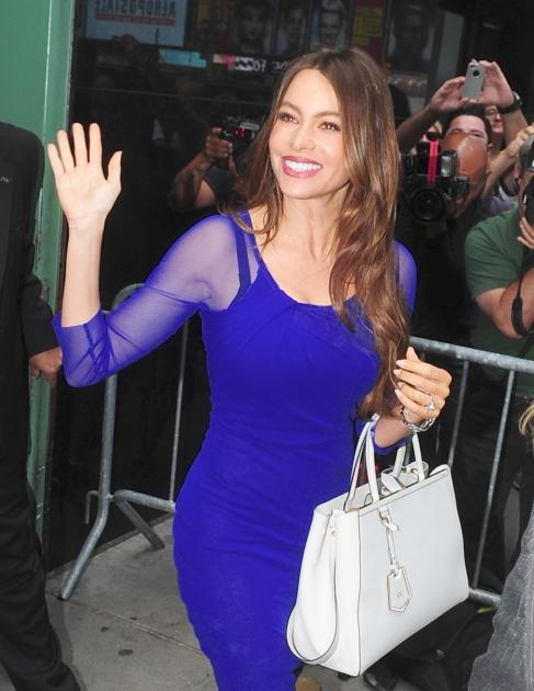Sofia Vergara heads into 'Good Afternoon America' in New York City, Aug. 28, 2012 -- Getty Images
