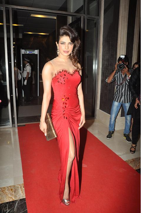 Actress Priyanka Chopra during the Hello Hall of Fame Magazine Awards 2013 in Mumbai on November 24, 2013. (Photo: IANS)