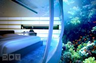 A room at the Water Discus Hotel