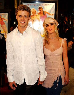 Justin Timberlake and Britney Spears at the Hollywood premiere for Paramount's Crossroads