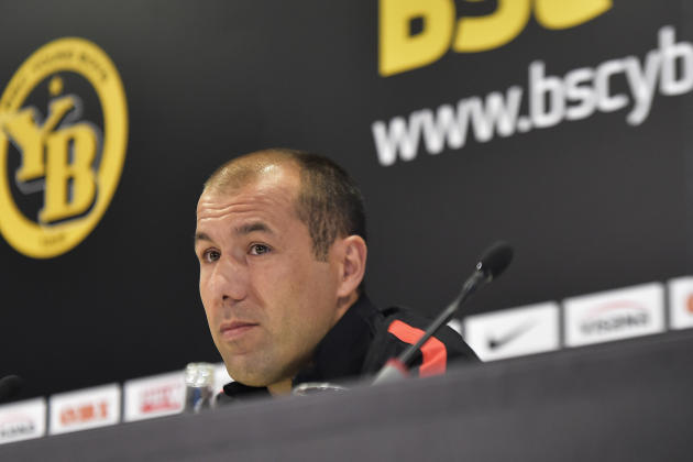 Monaco`s coach Leonardo Jardim, attends a press conference at the Stade de Suisse, Monday, July 27, 2015, in Bern. Switzerland's Young Boys Bern  is scheduled to play against France's AS Monac