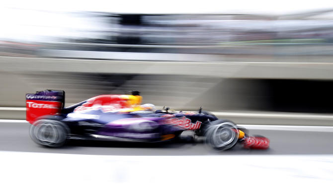CAR: Red Bull's Daniel Ricciardo of Australia in action during practice