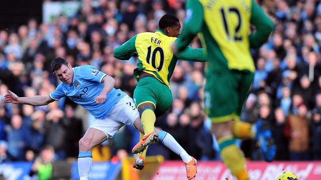 Premier League - Stuttering Man City draw at Norwich