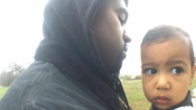 Kanye West Sweetly Serenades North West In 'Only One' Video
