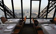 Jules Verne restaurant at the Eiffel Tower