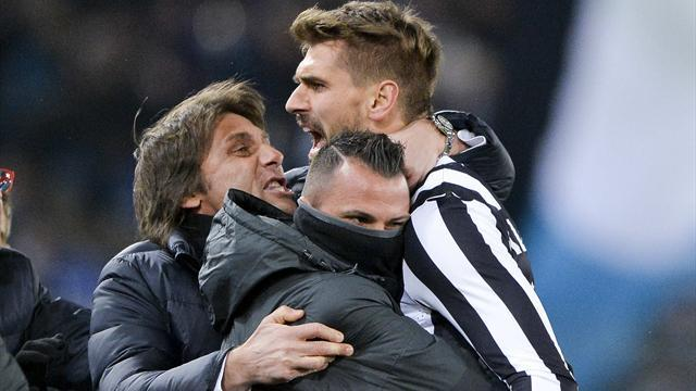 Serie A - Ten-man Juve draw at Lazio thanks to Llorente header