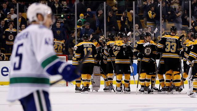 Ice Hockey - Bruins enjoy more home comfort against Canucks