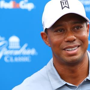 Tiger Woods discusses his progress before The Greenbrier