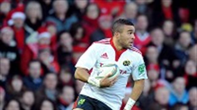 Rugby - Zebo hat-trick gives Munster victory