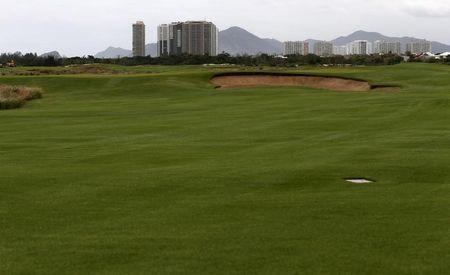 A view of the golf venue for the Rio 2016 Olympic Games is seen during the third media briefing for the Games in Rio de Janeiro
