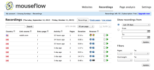 Mouseflow Review – Track Your Visitors' Behaviors image Screen Shot 2013 10 11 at 4.47.17 AM