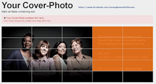 Easily Calculate If Your Facebook Cover Image Meets The 20% Text Rule image cover image checker 2 550x296
