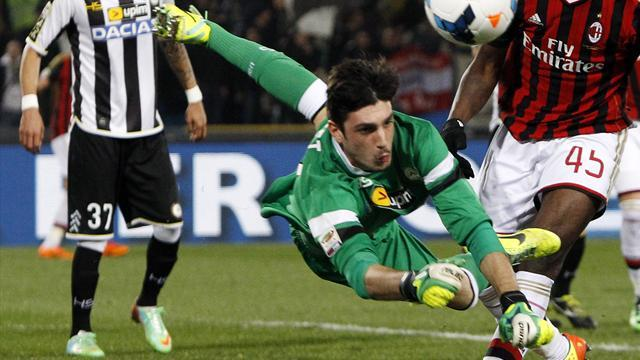 Serie A - Inter frustrated by 17-year-old Udinese keeper