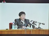 This screen grab taken from North Korean TV in July 2012, shows former refugee Jon Yong-Chol speaking at a press conference in Pyongyang. A North Korean refugee couple have returned to their homeland after being lured to South Korea where they lived for four years, Pyongyang's state media says