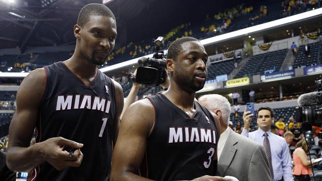 Basketball - James, Wade spark Heat win over fired up Pacers
