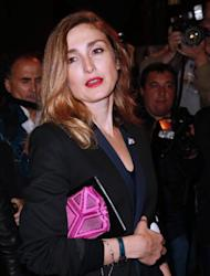 French actress Julie Gayet arrives for a fashion show in Paris on September 30, 2013