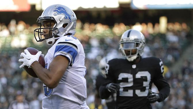 Lions WRs showing promise, even without Johnson