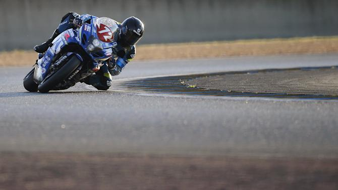 Suzuki rider Guittet of France competes during the 38th Le Mans 24 Hours motorcycling endurance race in Le Mans