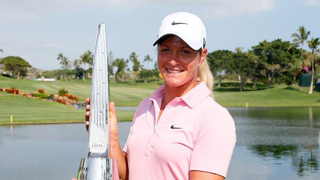 Golf - Pettersen wins Lotte in play-off with stunning Salas