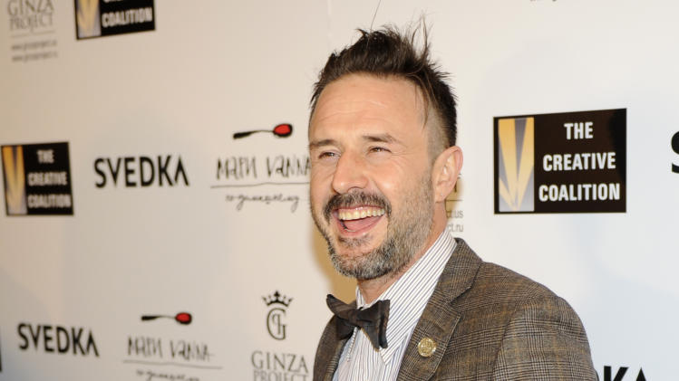 David Arquette arrives at the Creative Coalition Night Before Dinner on Sunday Jan. 20, 2013, in Washington. (Photo by Nick Wass/Invision/AP)