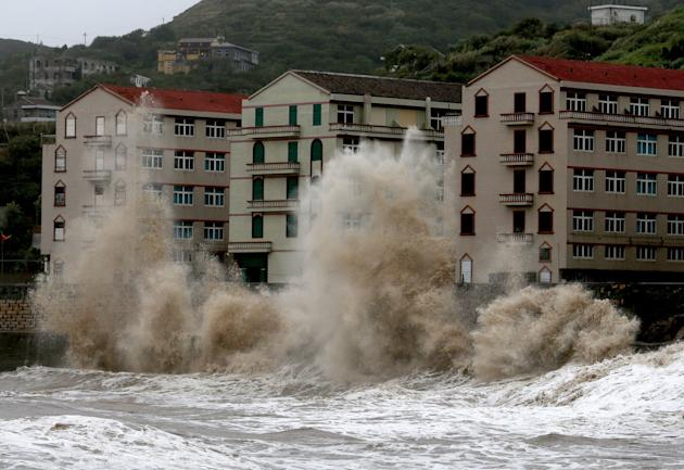 Severe Tropical Storm Trami Hits China