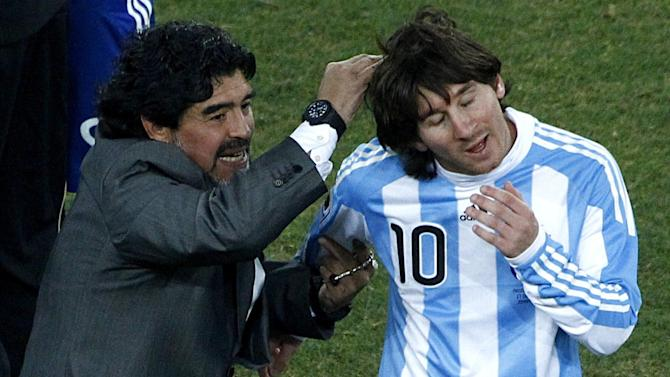 World Cup - Maradona: Messi was 'five times better' under me