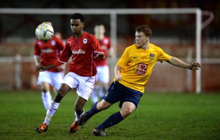 Soccer - FA Youth Cup - Fourth Round - Oxford United v Cardiff City - Draycott Engineering Loop Meadow Stadium