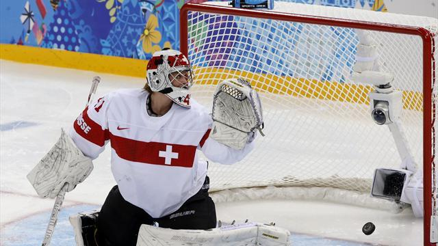 Ice Hockey - Canadian women pepper Swiss in Sochi opener