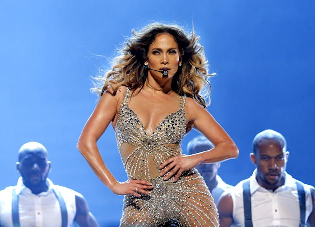Jennifer Lopez performs on stage at Ahoy on October 29, 2012 in Rotterdam, Netherlands. (Photo by Rob Verhorst/WireImage)