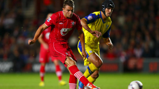 Jay Rodriguez, left, scored both of Southampton's goals in their 2-0 win over Sheffield Wednesday