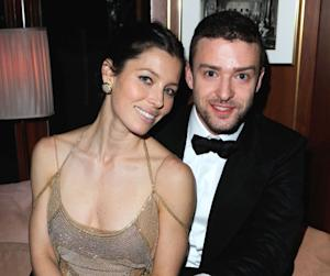 Jessica Biel and Justin Timberlake are all smiles at the 2011 Vanity Fair Oscar Party Hosted by Graydon Carter at the Sunset Tower Hotel in West Hollywood, Calif. on February 27, 2011  -- WireImage