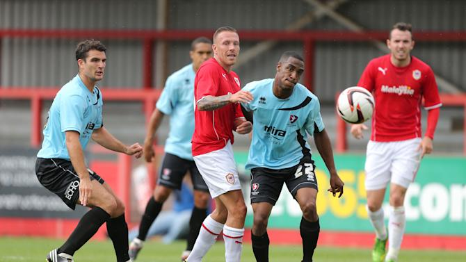 Soccer - Pre-Season Friendly - Cheltenham Town v Cardiff City - Abbey Business Stadium