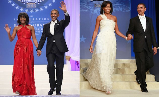Michelle Obama Wore A Red Jason Wu Dress For Last Night's Inaugural Ball