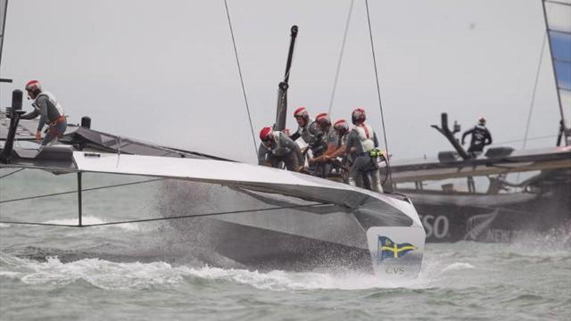 Sailing - New Zealand beats Italians to challenge Oracle for America's Cup
