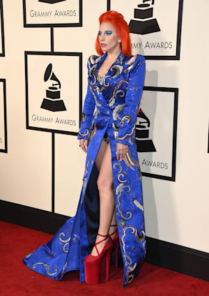 Lady Gaga arrives at the 58th annual Grammy Awards…